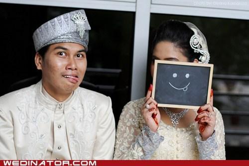 bride,funny wedding photos,groom,smile
