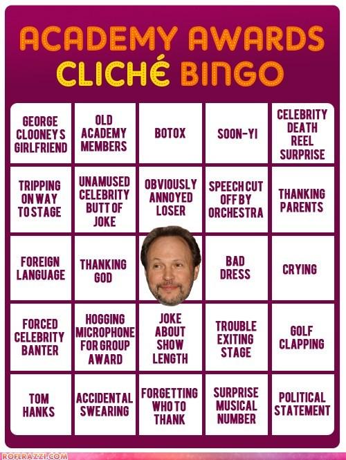 Academy Awards Cliche' Bingo