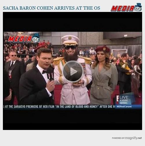 Oscars: Sacha Baron Cohen Is The Dick-tator