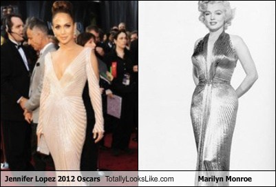 Jennifer Lopez 2012 Oscars Totally Looks Like Marilyn Monroe