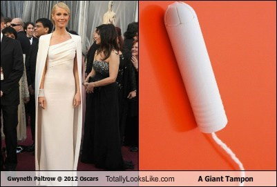 Gwyneth Paltrow @ 2012 Oscars Totally Looks Like A Giant Tampon