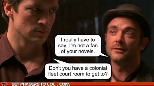 captain malcolm reynolds,castle,Courtroom,crossover,Firefly,nathan fillion