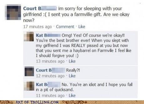 apology,facebook,Farmville,relationships