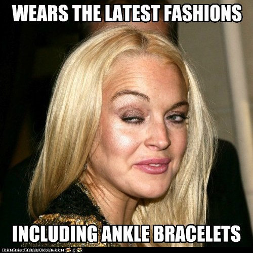 Lindsay Lohurrr: wears the latest fashions.