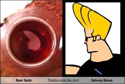 Beer Suds Totally Looks Like Johnny Bravo