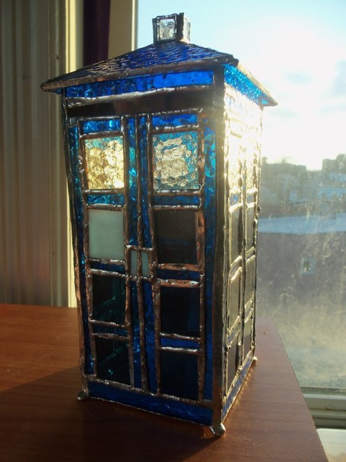 Stained Glass TARDIS of the Day