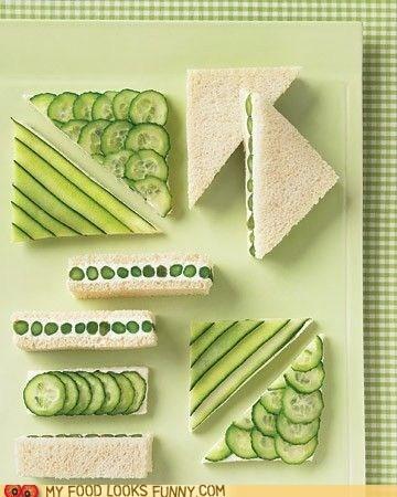 asparagus,cucumbers,neat,ocs,organized,perfect,sandwiches
