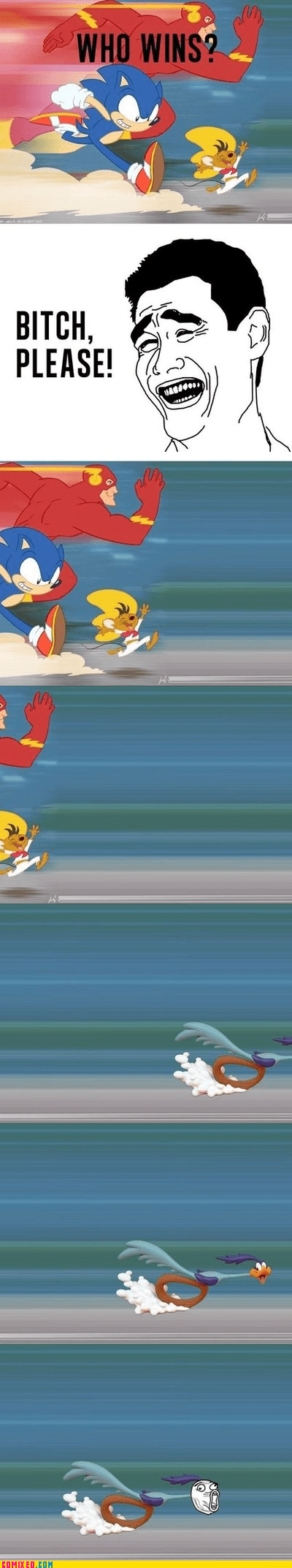 cartoons,flash,roadrunner,sonic,speedy gonzales