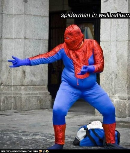 spiderman in well retirement