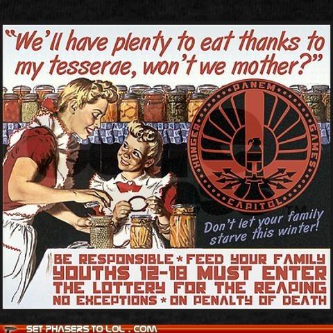 eat,hunger games,lottery,panem,propaganda,reaping