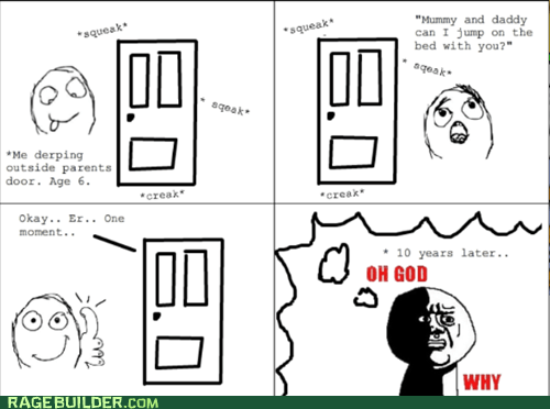 Rage Comics: Mommy, You're Supposed to Jump Standing Up!