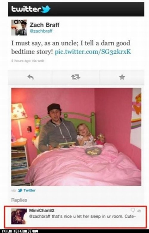 bedroom,niece,pink,uncle,Zach Braff