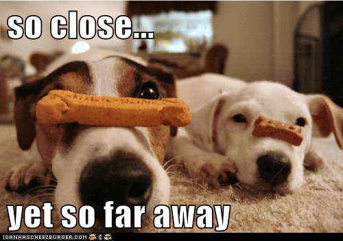 so close...  yet so far away