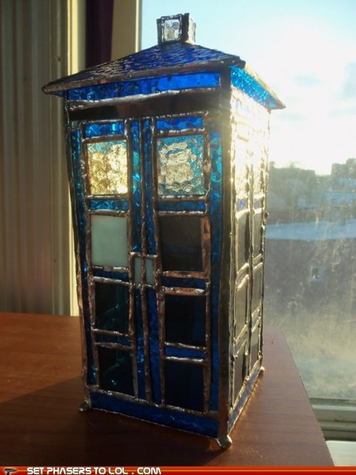 art,best of the week,blue,crafts,doctor who,pretty,stained glass,tardis