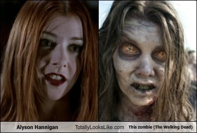 Alyson Hannigan Totally Looks Like This zombie (The Walking Dead)