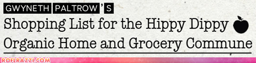 Gwyneth Paltrow's Hippy Dippy Shopping List