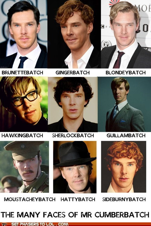The Many Faces of Benedict Cumberbatch