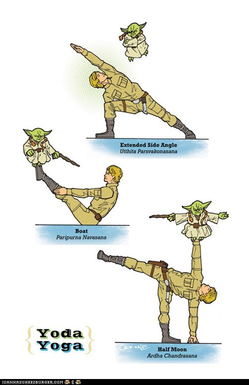 Luke and Yoda Yoga Poses