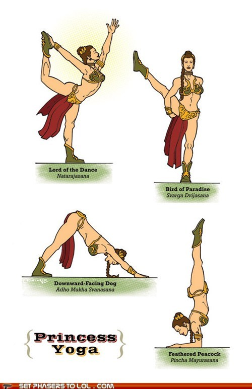 Star Wars Yoga Poses
