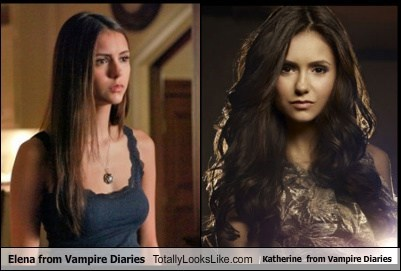Elena from Vampire Diaries  Totally Looks Like Katherine  from Vampire Diaries