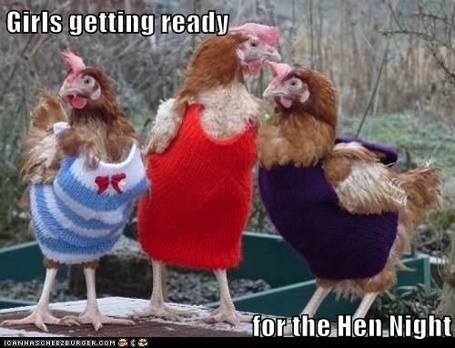 Girls getting ready   for the Hen Night