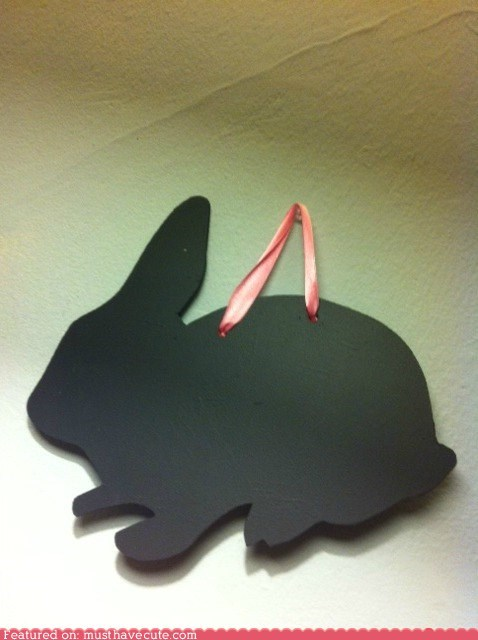 bunny,chalkboard,decor,ribbon