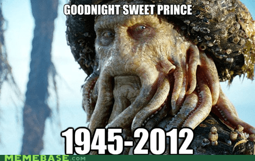 davy jones,goodnight sweet prince,Memes,monkees,Pirates of the Caribbean