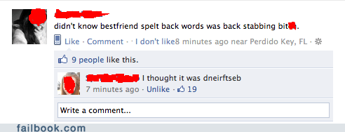 Failbook: It's Definitely Dneirftseb