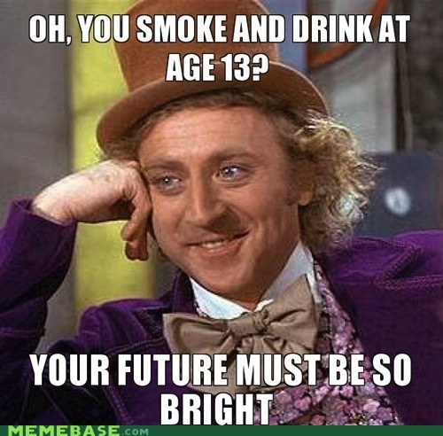 bright,drink,future,Memes,smoke,Willy Wonka