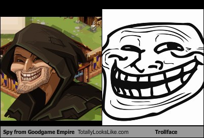 Spy From Goodgame Empire Totally Looks Like Trollface