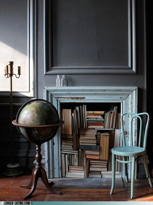 boockase,books,decor,fireplace,s tacks