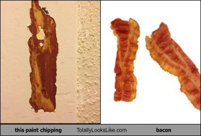 This Paint Chipping Totally Looks Like Bacon