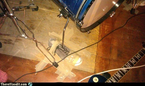 drum,kick drum,masking tape,shoe,sneaker