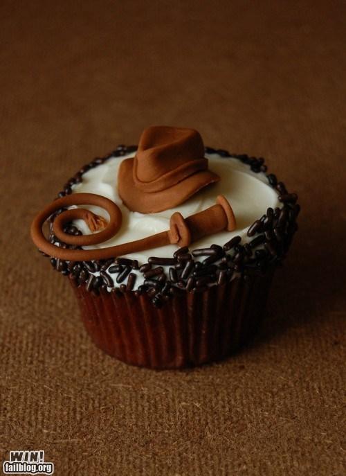 cupcake,dessert,food,Indiana Jones,nerdgasm