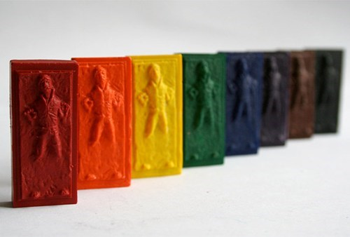 Han Solo Carbonite Crayons