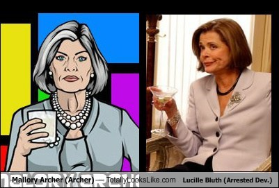 Mallory Archer (Archer) Totally Looks Like Lucille Bluth (Arrested Dev.)