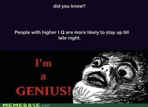 Insomnia = IQ Over 9000!!