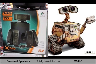 Surround Speakers Totally Looks Like Wall-E