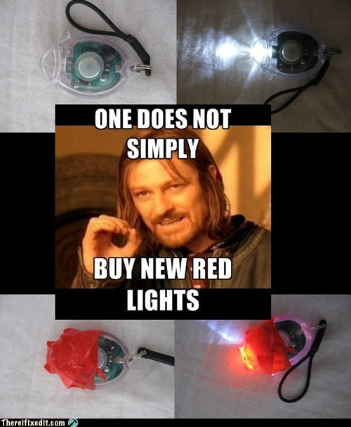 Boromir,Keychain,one does not simply,red light