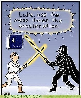double meaning,equation,force,Hall of Fame,literalism,physics,quote,star wars,term
