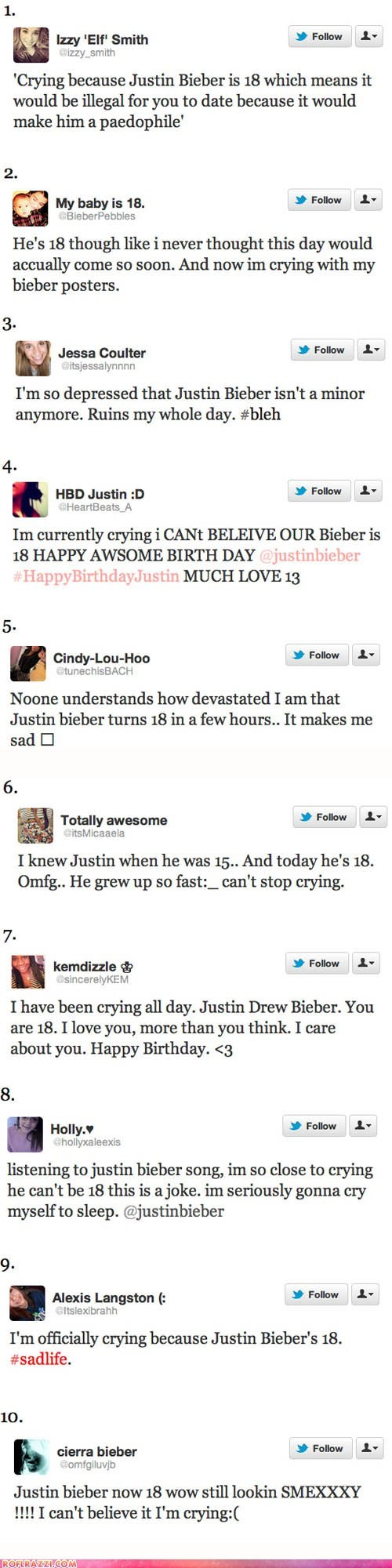 The 10 Worst Tweets About Justin Bieber's 18th Birthday