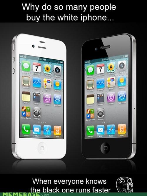 apple,black,iphone,lol,race,Rage Comics,running,white