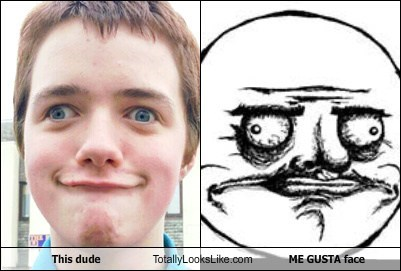 This Dude Totally Looks Like ME GUSTA Face