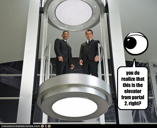 you do realize that this is the elevator from portal 2, right?