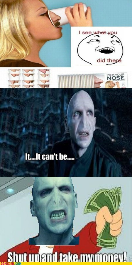 cups,Harry Potter,I see what you did there,Movie,nose,voldemort
