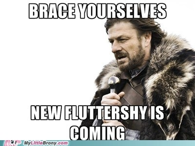 brace yourselves,fluttershy,meme,new fluttershy