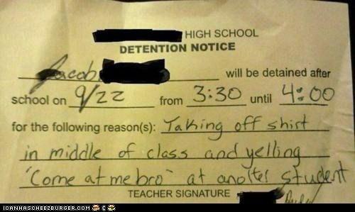 get 3 detentions