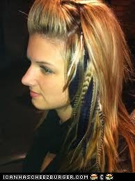get feather hair extensions