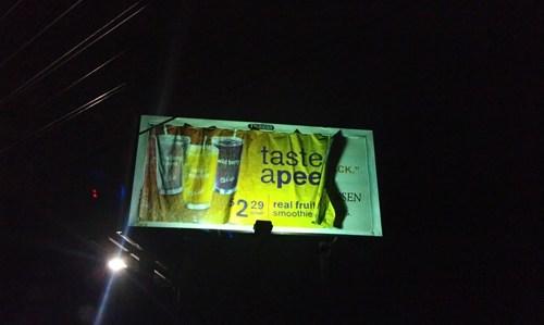 billboard,food,gross,missing letters