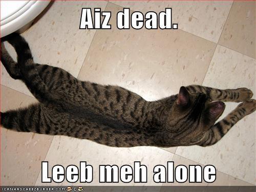 Aiz dead.  Leeb meh alone